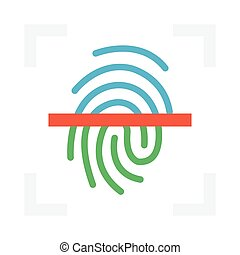 scan flat icon