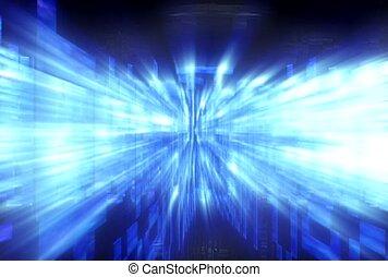 scan, scope, light flash