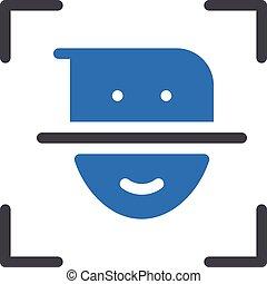 scan vector glyph color icon