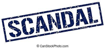 scandal blue grunge square vintage rubber stamp