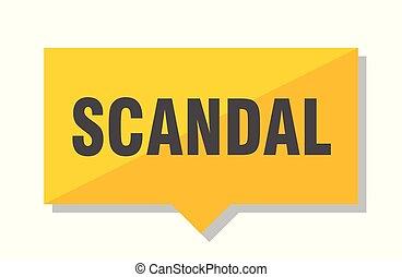 scandal price tag - scandal yellow square price tag