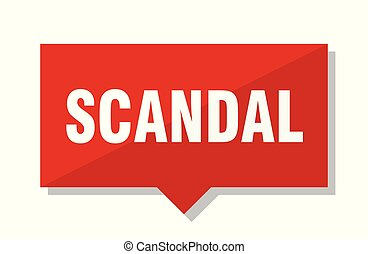 scandal red tag - scandal red square price tag