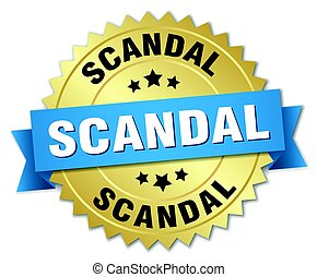 scandal round isolated gold badge