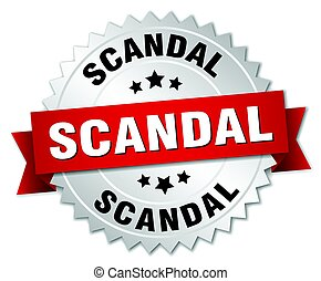 scandal round isolated silver badge