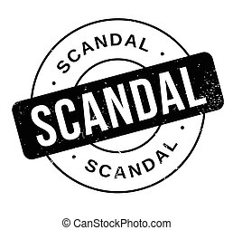 Scandal rubber stamp. Grunge design with dust scratches....