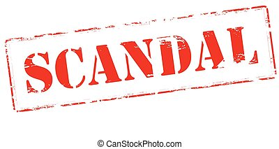 Rubber stamp with word scandal inside, vector illustration