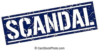 scandal square grunge stamp