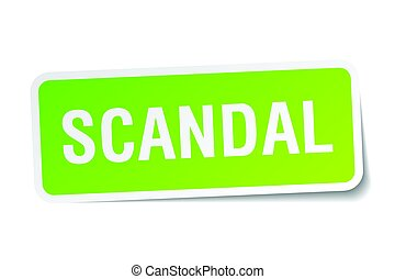 scandal square sticker on white