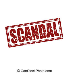 Scandal-stamp - Grunge rubber stamp with word Scandal,vector...