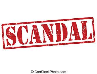 Scandal stamp - Scandal grunge rubber stamp on white, vector...