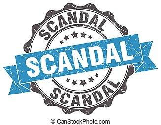 scandal stamp. sign. seal