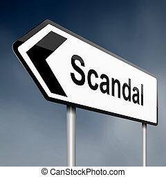 scandale, concept.