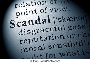 scandale, définition