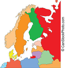 Scandanavia with Editable Countries - Scandinavia Regional...