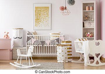 Scandi style baby room
