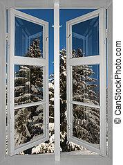 scandinave, paysage hiver