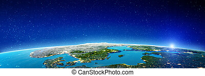 Scandinavia - Baltic Sea. Elements of this image furnished...