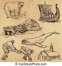 Scandinavia - Hand drawn pack