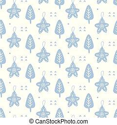 Scandinavian Christmas doodles seamless pattern