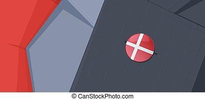 Scandinavian flags lapel pins. - Set of Danish, Finnish,...