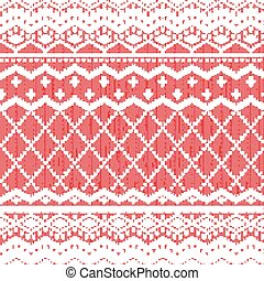 Scandinavian knitted pattern or nordic ornament