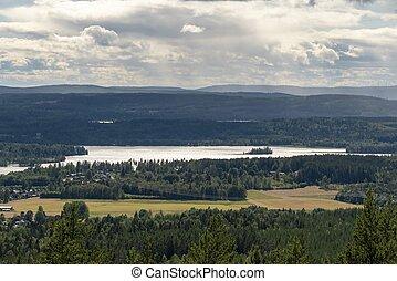 Scandinavian landscape in summer