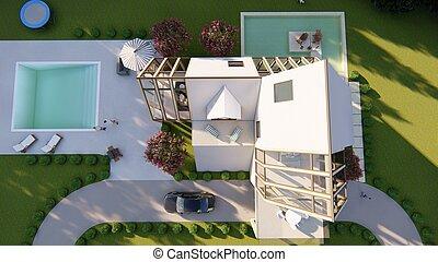 Scandinavian modern house exterior
