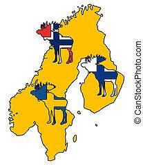 Scandinavian moose