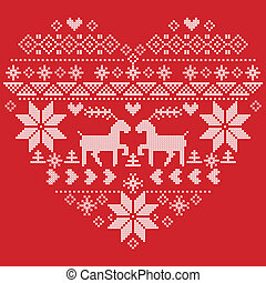 Scandinavian Nordic winter stitch, knitting christmas...