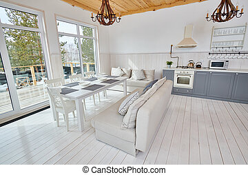 Scandinavian Open Kitchen Interior