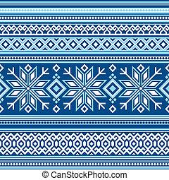 Scandinavian pattern seamless - vector seamless background...