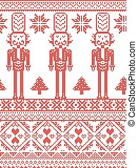 Scandinavian Pattern with Soldiers