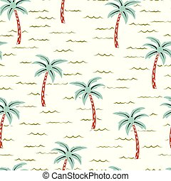 scandinavian pattern with tree palm - jungle tropical...