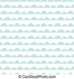 Scandinavian seamless mint pattern in hand drawn style.
