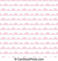 Scandinavian seamless pink pattern in hand drawn style.