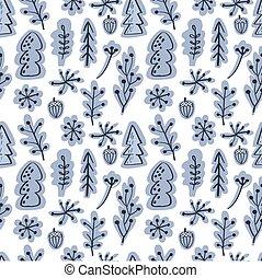Scandinavian seamless vector pattern - Scandinavian winter...