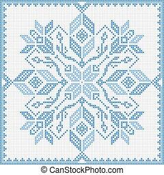 Scandinavian style cross stitch pat