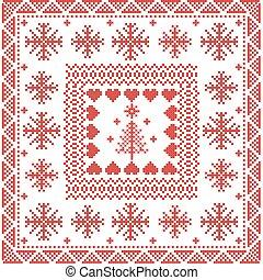 Scandinavian style Nordic pattern