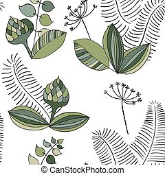Scandinavian Vector Floral Pattern