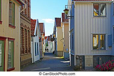 Scandinavian village street