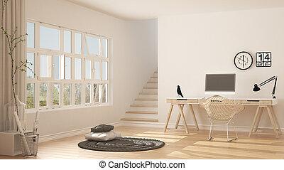 Minimalistisch interieur zolder inloopkast op zolder inrichting