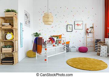 scandinavische stijl kinds slaapkamer