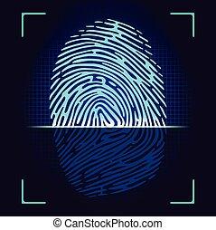 scanner, empreinte doigt