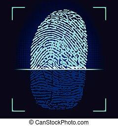 scanner., fingerabdruck