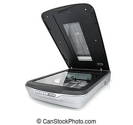 Scanner - Generic flat scanner on a white background