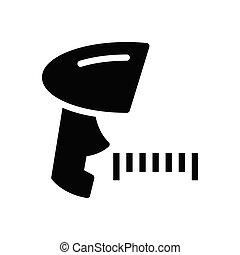 scanner glyph flat icon