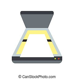 Scanner icon, flat style