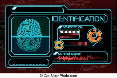 scanner, identifikation, fingerabdruck