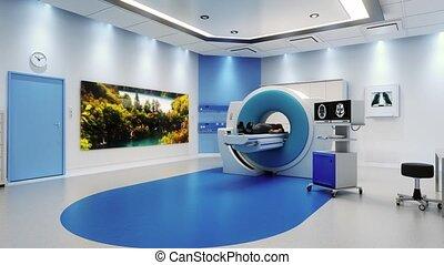 scanner, patient, salle, mri
