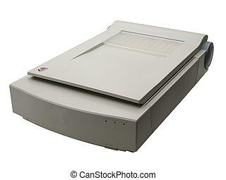 Scanner - flatbed scanner over white